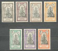1914 FRENCH INDIA DIEU BRAHMA MICHEL: 25-29, 31-32 MH * - India (1892-1954)