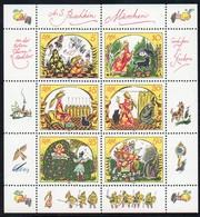 DDR 1984 MiNr. 2914/ 2919  ** /mnh ;  Kleinbogen Märchen Von Der Toten Zarentochter Und Den 7 Recken ; A. S. Puschkin - Märchen, Sagen & Legenden