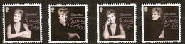 Gibraltar 2017 Micheln° 1815-18 *** MNH 20th Anniversary Death Lady Diana - Gibraltar