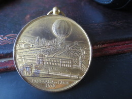 Médaille Souvenir De MON Ascension Dans Le Ballon Captif à Vapeur De Mr Henry Giffard - 1878 -PARIS - Royal / Of Nobility