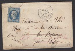 PARIS: Pli Avec 20c Empire Dentelé  Oblt Etoile 10 + CàDate PARIS R. DU CHERCHE-MIDI Pour BORDEAUX - 1849-1876: Période Classique