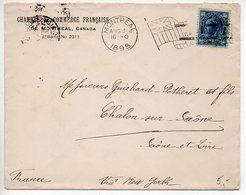 Canada : Flamme Drapeau Sur Lettre De Montréal De 1898 Affranchie Victoria - 1851-1902 Règne De Victoria