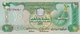 United Arab Emirates 10 Dirham UNC 2001. - Rare Date - Emirats Arabes Unis