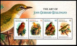 CHRISTMAS ISLAND (Australia) 2018 The Art Of John Gerrard Keulemans Minisheet**BIRDS - Christmas Island