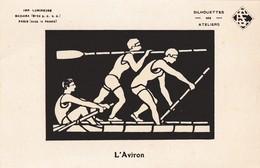 Rare Carte Postale Ancienne Illustrée - Fluorescente - Aviron - Aviron