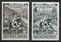 BELGIQUE     -  1943.   Y&T N° 639 / 640 *.  Saint-Martin. - Belgique