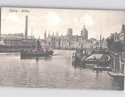 GDANSK DANZIG Mottlau Sciff Stengelk-AK Um 1908 - Polen