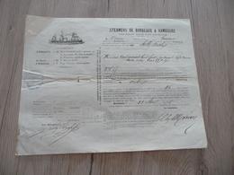 Connaissement 18/08/1876 Steamers De Bordeaux à Hambourg Dattes - Transport