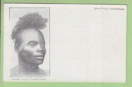 Scarifications, Tatouages : Jeune Fille Congolaise. Congo. Dos Simple. TBE. 2 Scans. Edition Journal Des Voyages - Congo Français - Autres
