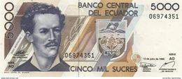 ECUADOR 5000 SUCRES 1999 P-128c UNC [EC128c] - Equateur