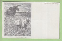 La Chasse à L'Eléphant : Poursuivis Par Un Eléphant. Dos Simple. TBE. 2 Scans. Edition Journal Des Voyages - Hunting