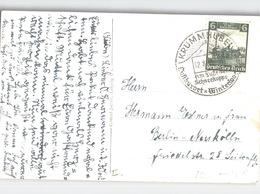 KRUMMHÜBEL Luftkurort Stempel Schneekoppe Schön. Frankatur AK Hampelbaude 1936 - Schneeberg