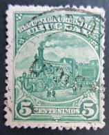 1897 URUGUAY Mi:UY 119, Sn:UY 113, Yt:UY 122. Lokomotive. Country Motifs 1895 - Uruguay