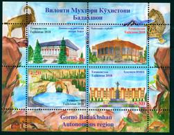 Tajikistan 2018 Badakhshan Region Bl. S/S MNH - Tadjikistan