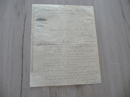 Transport Maritime Lettre à En Tête Illustrée Navigazione Generale Italiana Marsiglia 08/03/1884 - Italie