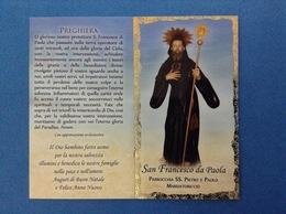SANTINO CALENDARIETTO HOLY CARD SAN FRANCESCO DA PAOLA - Santini