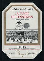 Rare //Etiquette De Vin //sport// Lutry, La Cuvée Du Tennisman - Etiquettes