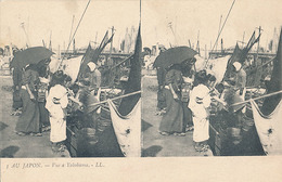 AU JAPON - N° 3 - VUE A YOKOHAMA (CARTE STEREOSCOPIQUE) - Cartes Stéréoscopiques