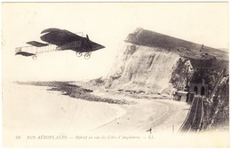1915 Bleriot Fliegt über Den Kanal Nach England. Gestempelt - Aviateurs