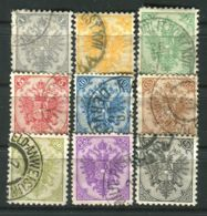 BOSNIE-HERZEGOVINE  ( POSTE ) : Y&T N°  1A/9A  TIMBRES  BIEN  OBLITERES . - Bosnie-Herzegovine