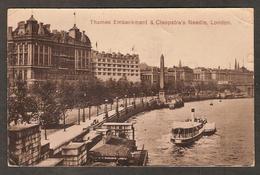 - Angleterre - Thames Embarkment & Cleopatra's Needle London - River Thames