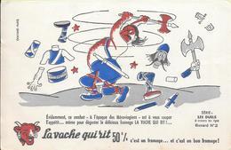 Buvard La Vache Qui Rit , Série Les Duels à Travers Les âges N°02/10 - Buvards, Protège-cahiers Illustrés