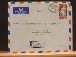 81/081  LETTRE REGISTRED  1963 POUT LA HOLLANDE - Greece