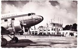 1954 Flugplatz Le Touquet - Paris Plage. Gelaufene Karte - Aviateurs