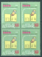 ECUADOR - MNH/** - 1990 - INEC BLOC OF 4 STAMPS - Yv 1208 -  Lot 18452 - Equateur