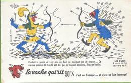 Buvard La Vache Qui Rit , Série Les Duels à Travers Les âges N°03/10 - Buvards, Protège-cahiers Illustrés