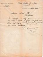 1885 - PROPRIANO (Corse) ÉBAUCHONS BRUYÈRE Pour PIPES - Veuve SALVAT & NOARO - Historical Documents