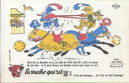 Buvard La Vache Qui Rit , Série Les Duels à Travers Les âges N°04/10 - Buvards, Protège-cahiers Illustrés