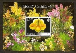 Jersey 2008  Yvertn° Bloc 84 *** MNH Cote 11 Euro Flore Bloemen Fleurs Flowers Orchidee - Jersey