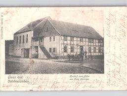 Gruss Aus Ochtmersleben GASTHOF Zum Adler Von Fritz Henniges Mit Leben Um 1900 - Oschersleben
