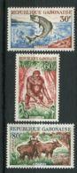 GABON ( POSTE ) : Y&T N°  171/173  TIMBRES  NEUFS  SANS  TRACE  DE  CHARNIERE . - Gabon (1960-...)
