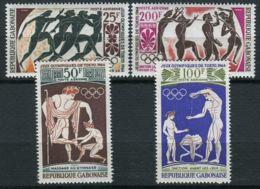 GABON ( AERIEN ) : Y&T N°  24/27  TIMBRES  NEUFS  SANS  TRACE  DE  CHARNIERE . - Gabon (1960-...)