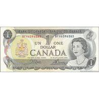 TWN - CANADA 85c - 1 Dollar 1973 Prefix BFH - Signatures: Crow & Bouey UNC - Canada