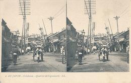 AU JAPON - N° 2 - YOKOHAMA - QUARTIER DE NOGUEMACHI (CARTE STEREOSCOPIQUE) - Cartes Stéréoscopiques