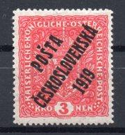 CZECHOSLOVAKIA  1919, MNH , EXPERTIZED - Ongebruikt