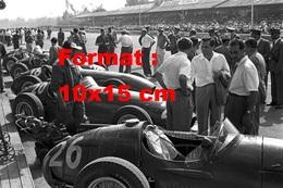 Reproduction D'une Photographie Ancienne De Maserati 250F Au Grand Prix De Monza En 1954 - Reproductions