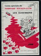 Rare //Etiquette De Vin // Hockey Sur Glace // Forward Hockey-Club Morges 1988 - Etiquettes