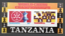 Tanzania 1986 Chess Echecs, Rotary, Imperforated SS, Double Printed. - Rotary, Lions Club