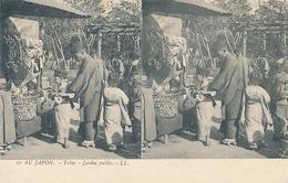 AU JAPON - N° 10 - TOKIO - JARDIN PUBLIC (CARTE STEREOSCOPIQUE) - Cartes Stéréoscopiques