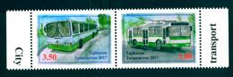 Tajikistan 2017 City Transport Bus Trolleybus 2v Se-ten MNH - Tadjikistan