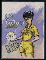Rare //Etiquette De Vin // Football //  Dôle , C.S. La Tour-de-Peilz, Senior - Fussball