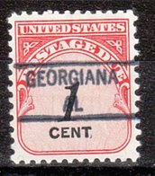 USA Precancel Vorausentwertung Preo, Locals Alabama, Georgiana 841 - Etats-Unis