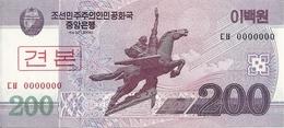 COREE DU NORD 200 WON 2008 UNC P 62 S - Korea, North