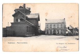 Denderleeuw Place De La Station Estaminet Van Mieghem édit 1904 - Denderleeuw