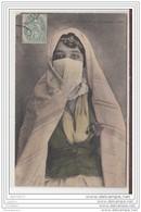 4141 POST CARD AK CPA ETHNOGRAPHIE NORD AFRICAINE ALGERIE MAURESQUE VOILEE - Algeria