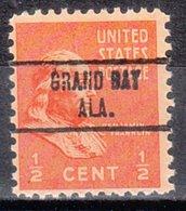 USA Precancel Vorausentwertung Preo, Locals Alabama, Grand Bay 734 - Etats-Unis